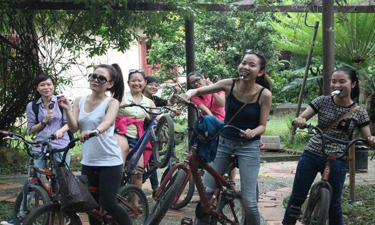 Khu du lịch Vườn Xoài - đạp xe