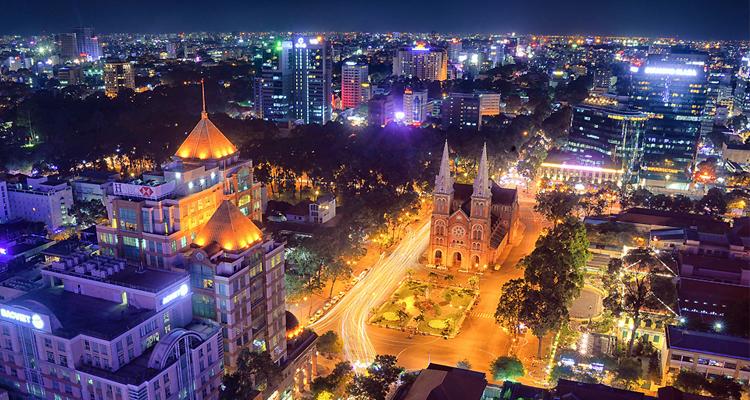 Sài Gòn về đêm - trên cao