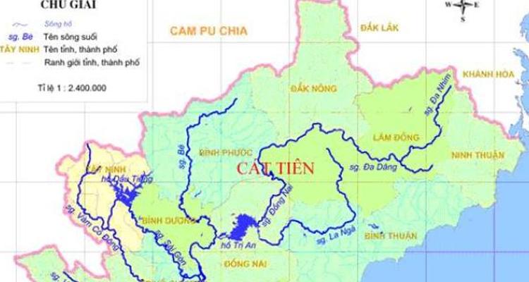Vườn quốc gia Cát Tiên - bản đồ
