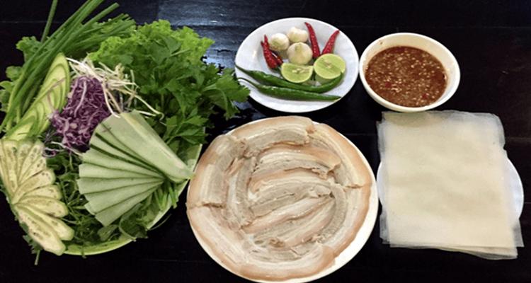 Ăn gì ở Đà Nẵng - bánh tráng thịt heo