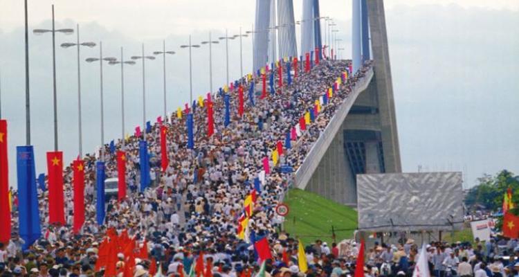 Cầu Mỹ Thuận - khánh thành