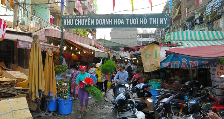 Chợ hoa Hồ Thị Kỷ 02