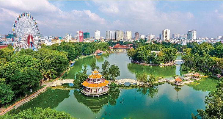 Công viên văn hóa Đầm Sen - toàn cảnh