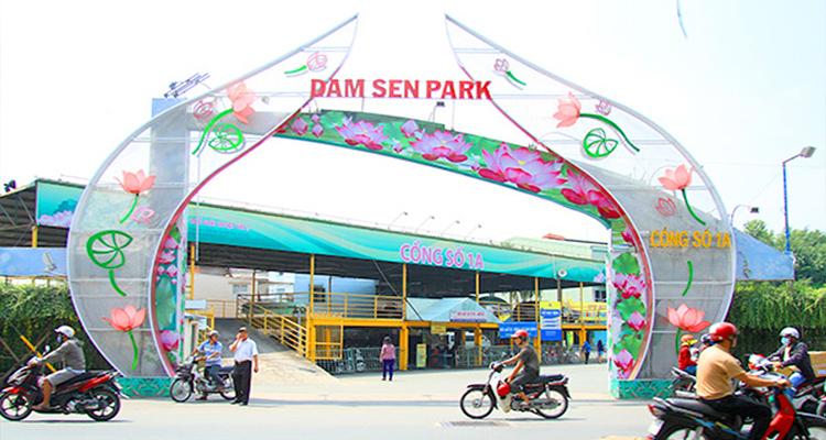 Công viên văn hóa Đầm Sen - cửa 1a