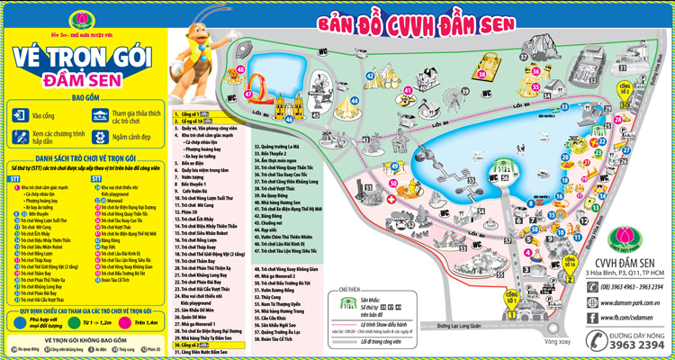 Công viên văn hóa Đầm Sen - bản đồ