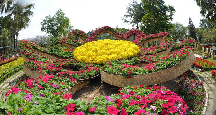 Công viên văn hóa Đầm Sen - bồn hoa