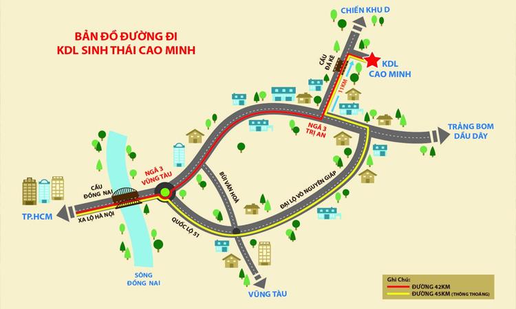 Khu du lịch Cao Minh - di chuyển