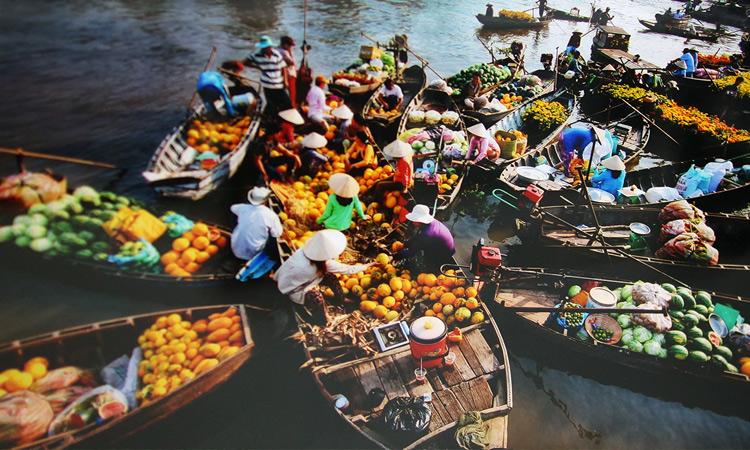 Khu du lịch Mỹ Khánh - chợ nổi