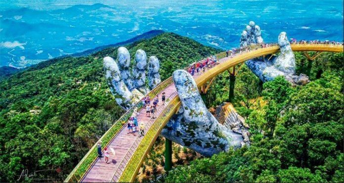 Tham quan Cầu Vàng Đà Nẵng